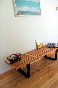 edgemod furniture-slat-5-ft-indoor-bench